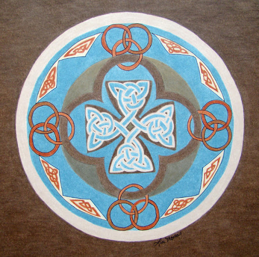 """Cross"" by artist Lisa Thomas."