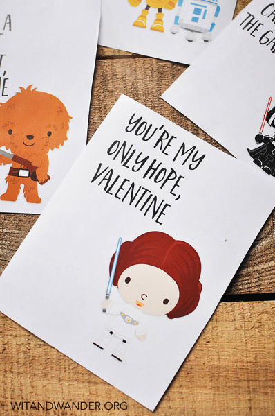 Hand Drawn Star Wars Character Valentines
