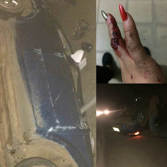 Actress Rosaline Meurer Survives Ghastly Accident, Shares Photo Of The Damaged Car