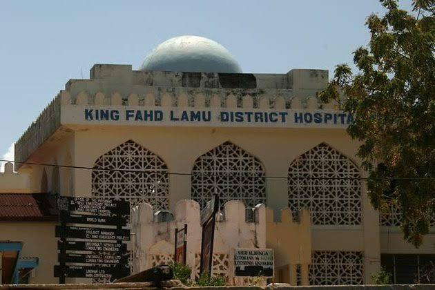 King Fahd district hospital in Lamu