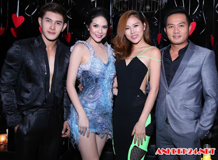Thiên Bảo và vợ mới cưới dự tiệc cùng sao Thái Lan