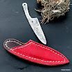 ručně kované nože z titanu s koženým pouzdrem-001.JPG
