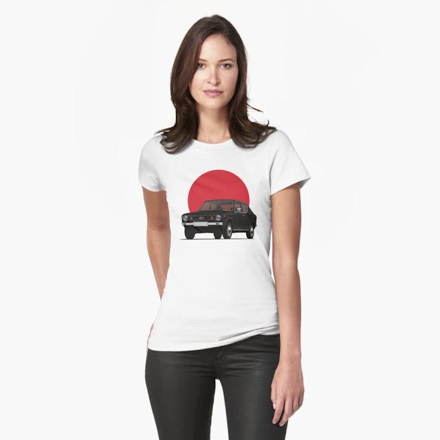 Datsun 100A / Cherry with the Rising sun t-shirt