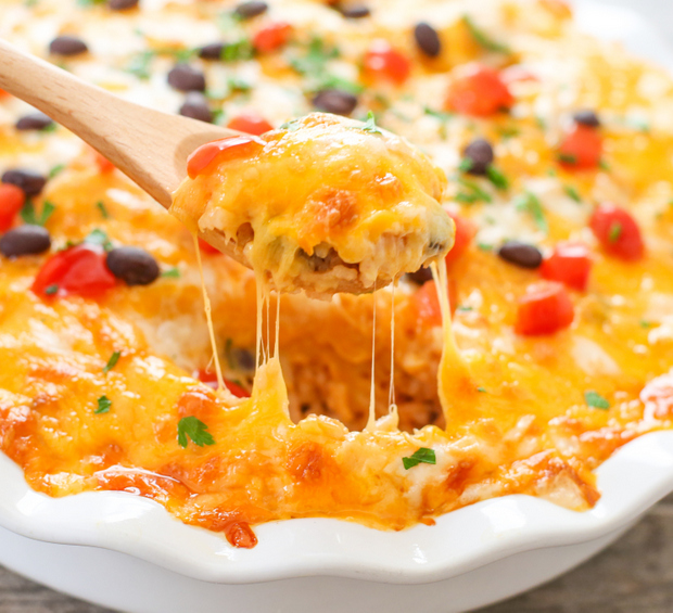photo of spoon with melted cheese