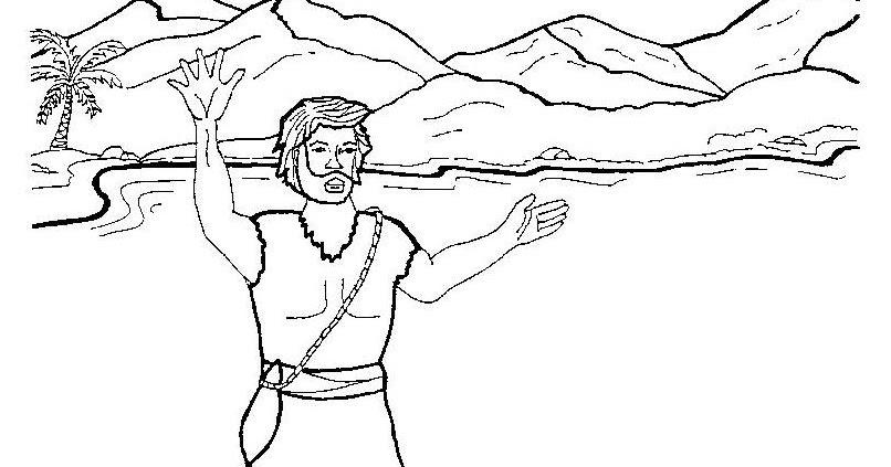 Dibujos Para Colorear San Juan: Dibujos Católicos : Juan El Bautista Para Colorear