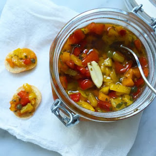 Sweet and Sour Roasted Peppers with Capers