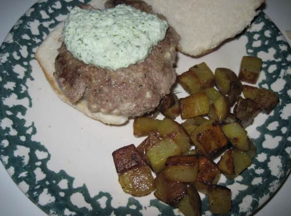 Greek Cheese Burgers With Tzatziki Recipe