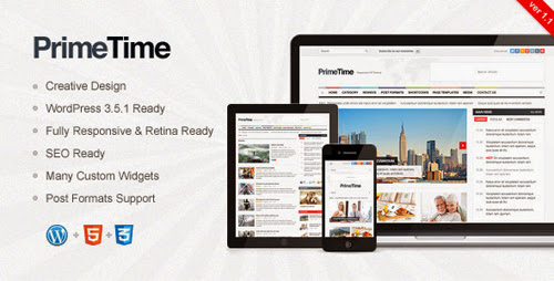 PrimeTime - Clean, Responsive WP Magazine