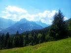 Blick zum Mangart (2677 m ) in Slowenien