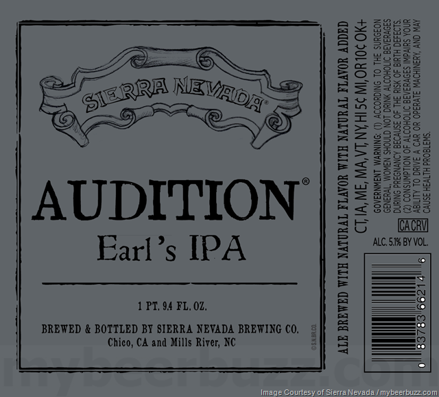 Sierra Nevada Audition Earl's IPA Coming To Bottles