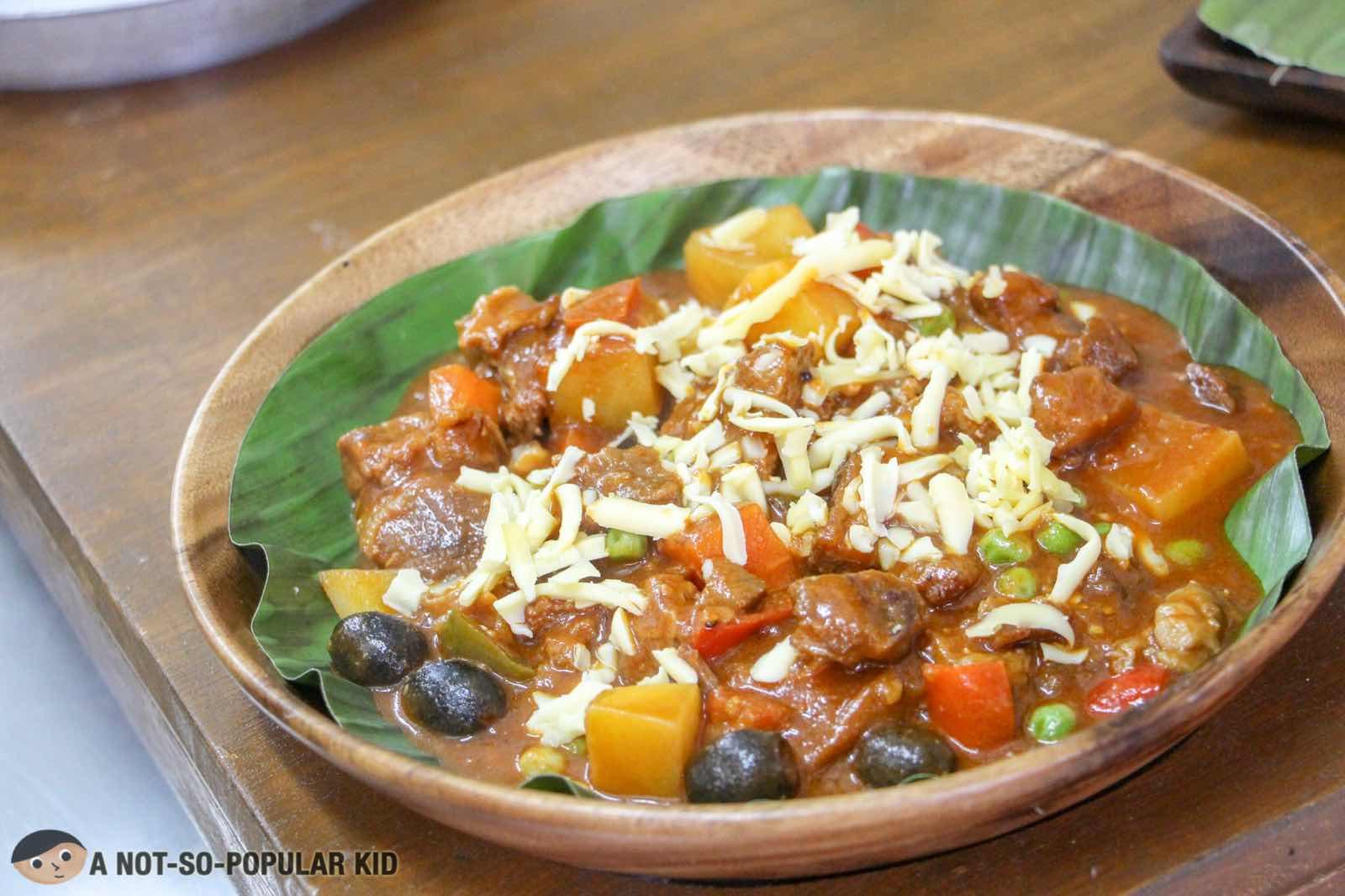 Pinoy Kaldereta - beef stew in tomato sauce