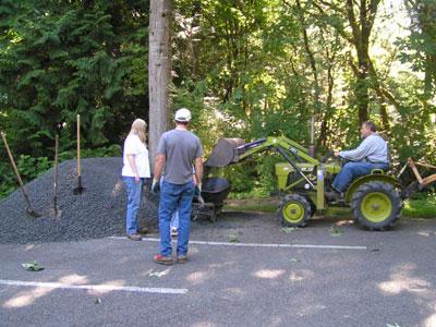 loading wheelbarrows (Barret method)