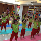 Celebration of International Yoga Day at Witty World, BN by JR KG D