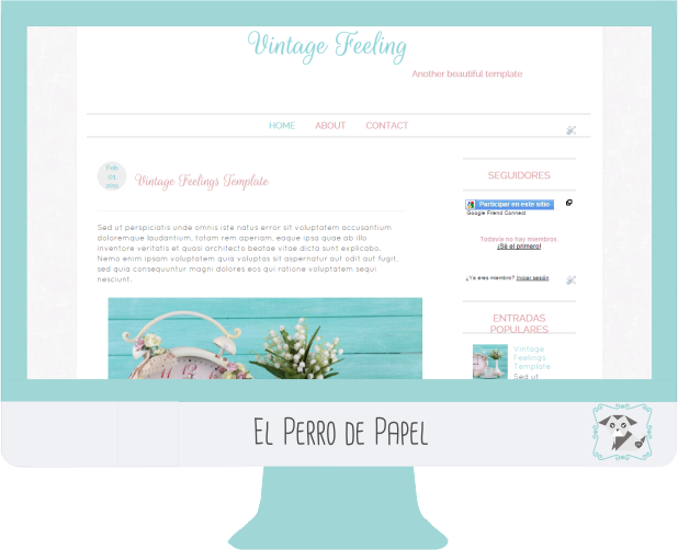 Plantilla Profesional para Blogger