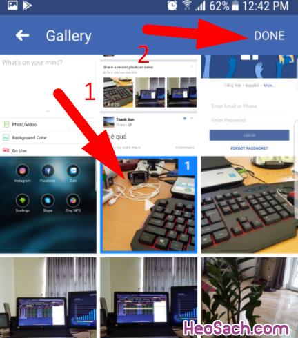 chọn video upload chia sẻ lên facebook