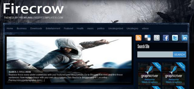 Firecrow Blogger Template