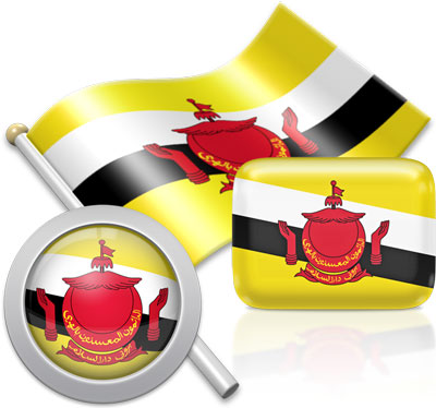 Bruneian flag icons pictures collection