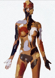 Chocolate Body Painting Art on Sexy Models - Girls painted in chocolate