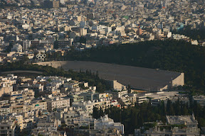 View of 1896 Olympic Stadium from Lycabettus Hill, Athens