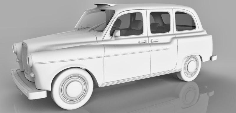 ชุดโมเดลยานพาหนะจาก Archmodels vol.55 Taxi%252001