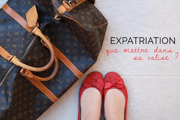 quoi emporter lors d'une expatriation, faire ses bagages pour aller vivre à l'étranger, que prendre dans sa valise pour s'expatrier, conseils faire sa valise, voyager avec un animal de compagnie