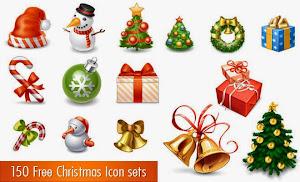 150 Free Christmas Icon - 150 biểu tượng, hình ảnh giáng sinh !