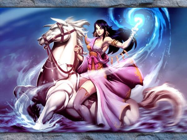 Sorcerer On Great White Horse, Magic And Spells