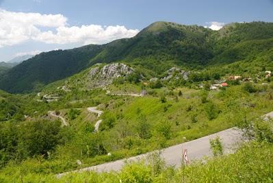 Berglandschaft bei Lijeva Rijeka