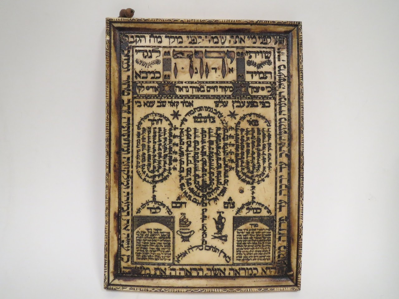 Carved Hebrew Shiviti