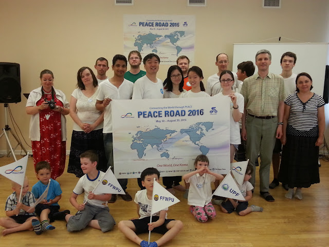 Latvians take peace road through riga universal peace for Consul getting started