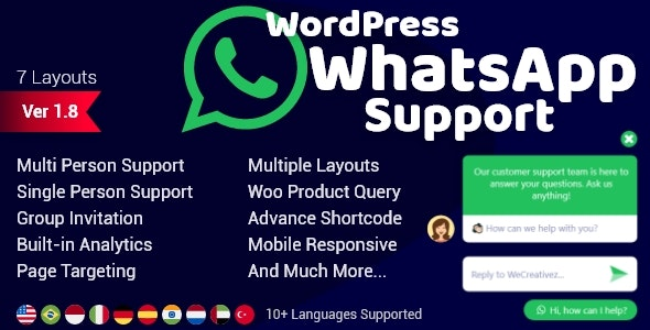 WordPress WhatsApp Support v2.0.2 nulled
