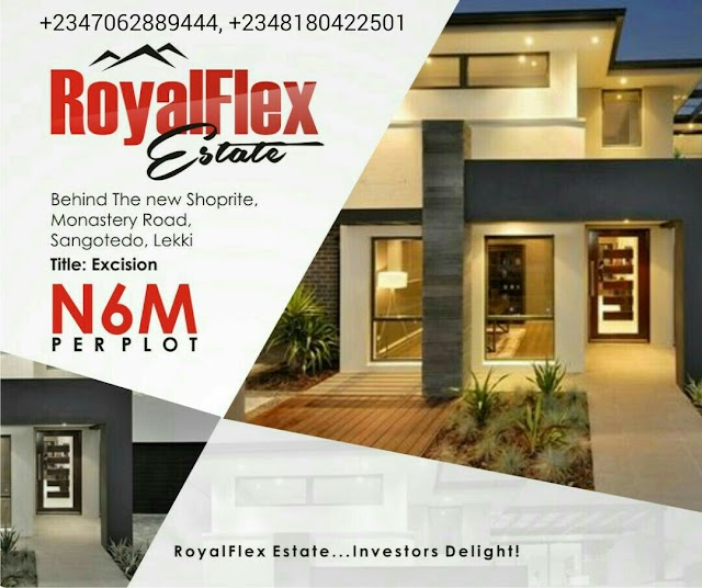ROYAL FLEX ESTATE PHASE 1 MONASTERY ROAD SANGOTEDO, AJAH, LAGOS(LAND FOR SALE)
