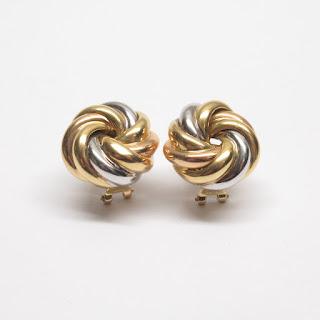 18K Yellow & White Gold Earrings