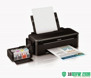 How to reset flashing lights for Epson L100 printer