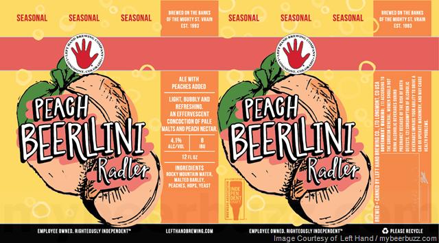 Left Hand Brewing Peach Beerlini Radler Coming In May