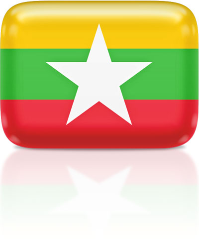 Burmese flag clipart rectangular