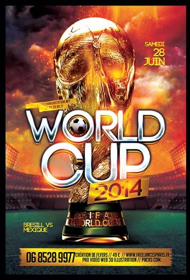 création flyer brésil 2014 coupe du monde 03
