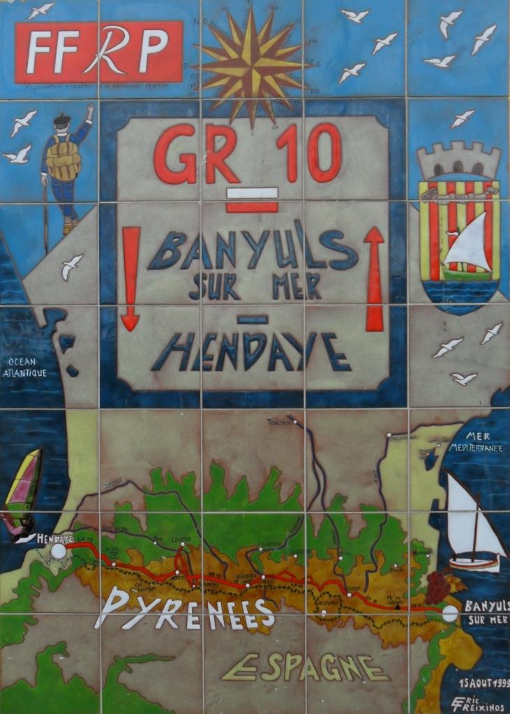 GR10-Wandbild Banyuls