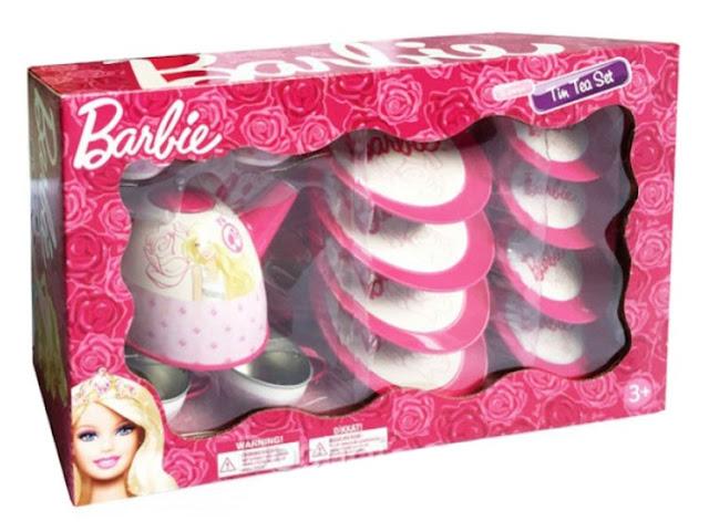 Bộ ấm trà Barbie Tin Tea Set xinh xắn