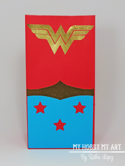 Wonder woman, treat bag Blog Hop Friends, Ruthie Lopez
