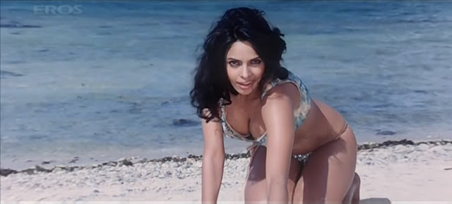 Mallika Sherawat Boobs Show in Hot Bikini | Big Breast Exposed