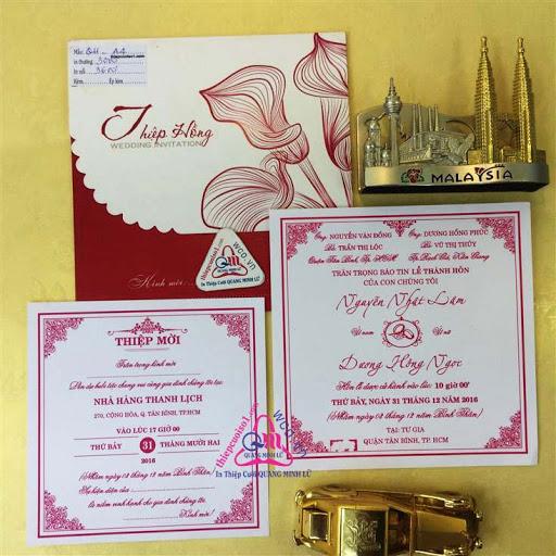 Thiệp cưới giá rẻ Mã 2016.8