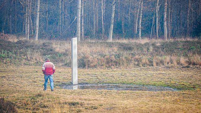Mysterieuze metalen zuil gevonden in Fries natuurgebied