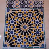 MEXUAR - Ginette Bolle - appliqué et quilté machine - Reproduction d'une mosaïque de la Salle du Mexuar - Palais de L'Alhambra de Grenade - Espagne