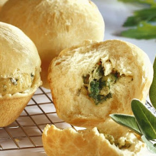 Cheddar Cheese and Herb Muffins.