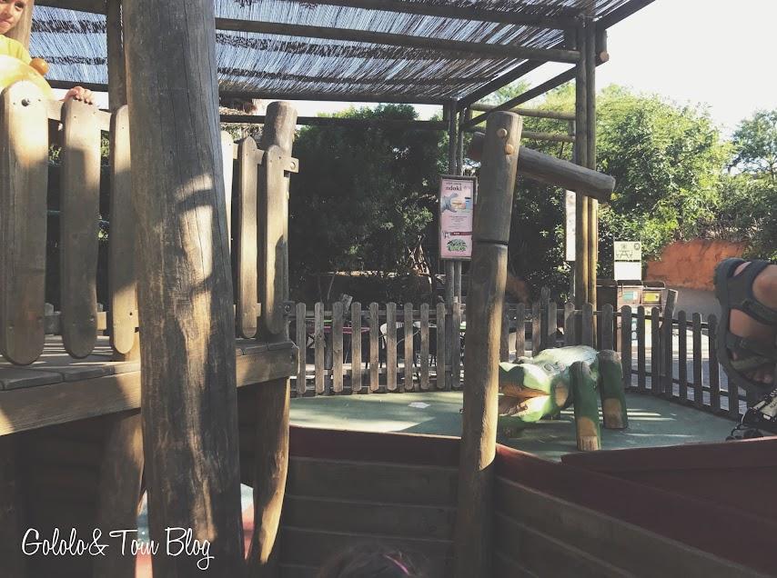 Zona de ocio infantil en Bioparc Valencia