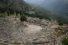 The archaeological site at Delphi