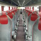Het interieur boven in de Vanhool van South West Tours bus nummer 92