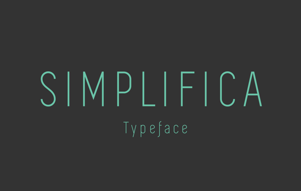 SIMPLIFICA Typeface Free Fonts
