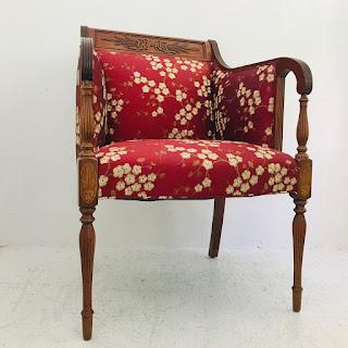 Mahogany Cherry Blossom Armchair #2